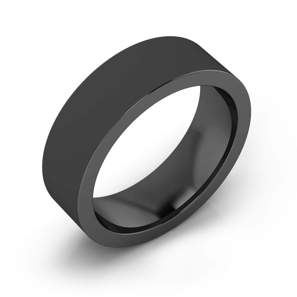 Men's Wedding Ring 18k black gold. (- 15% )