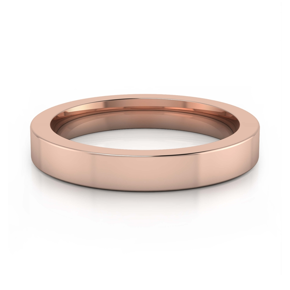 Brilliant pink gold Wedding Ring for men