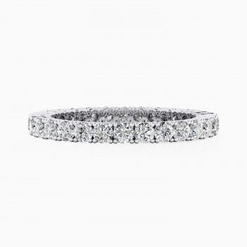Wedding band 18k white gold with exclusive diamonds