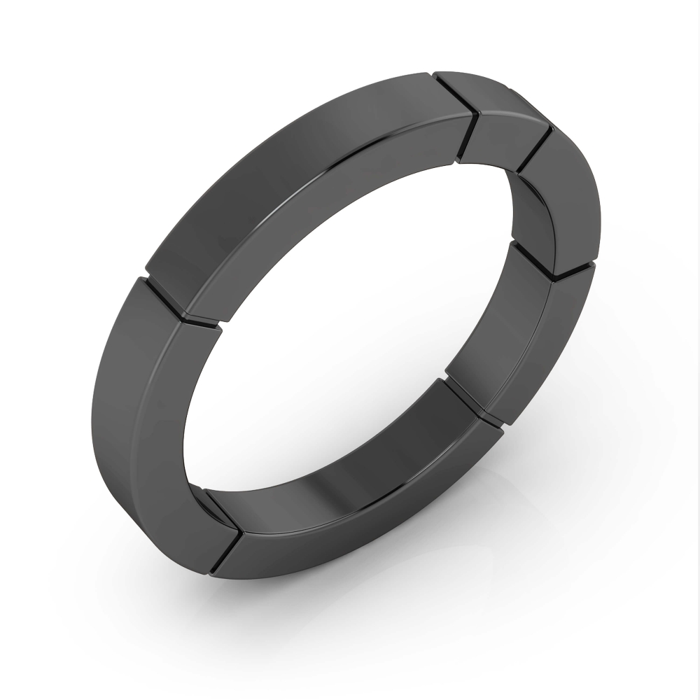 Men's wedding ring 18k black gold