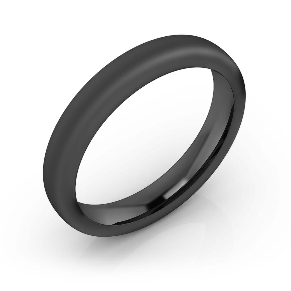 Men's Wedding Ring black gold 18k matte