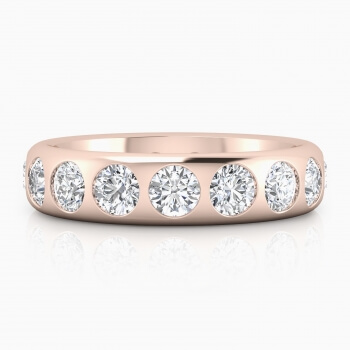 Stunning 18k pink gold wedding ring