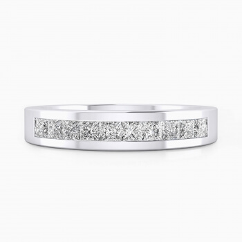 Wedding bands 18k white gold with 10 diamonds