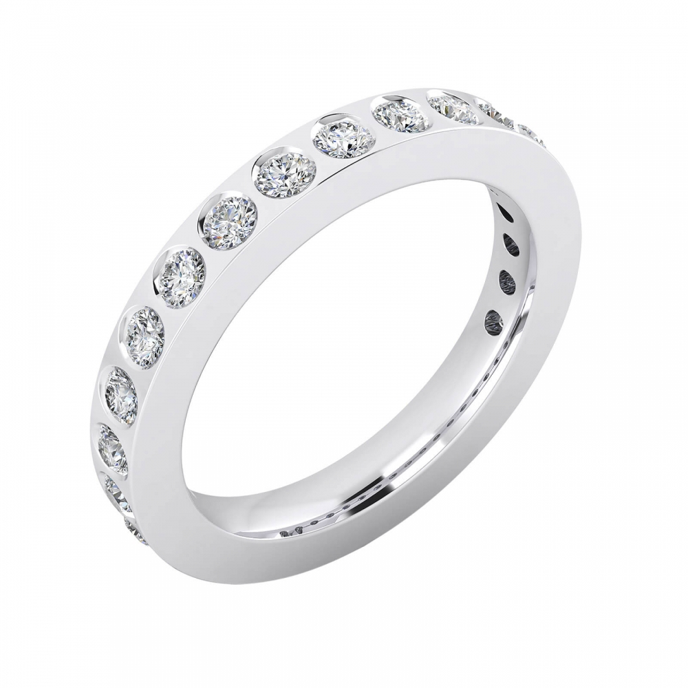 Wedding bands 18k white gold with 14 diamonds