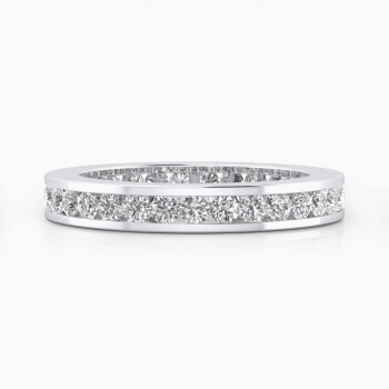 Wedding bands white gold with brilliant-cut diamonds