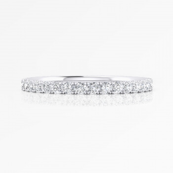 Sophisticated wedding ring made of 18K white gold