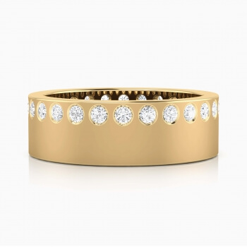 Wedding Ring 18k yellow gold and 26 brilliant cut diamond