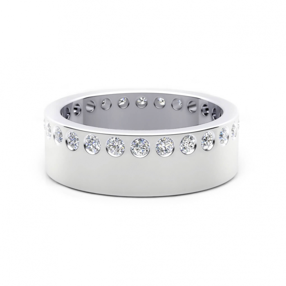 Wedding Ring 18k white gold and 26 brilliant cut diamond