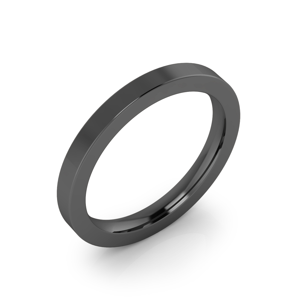 Wedding ring, made in 18 kt black gold, with glossy finish