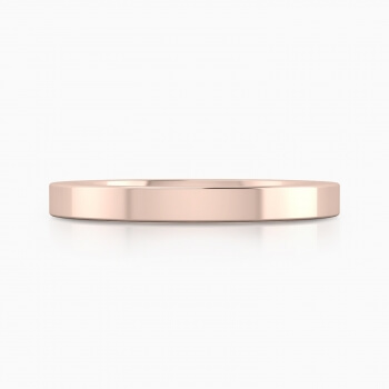 Wedding ring, made in 18 kt rose gold, with glossy finish