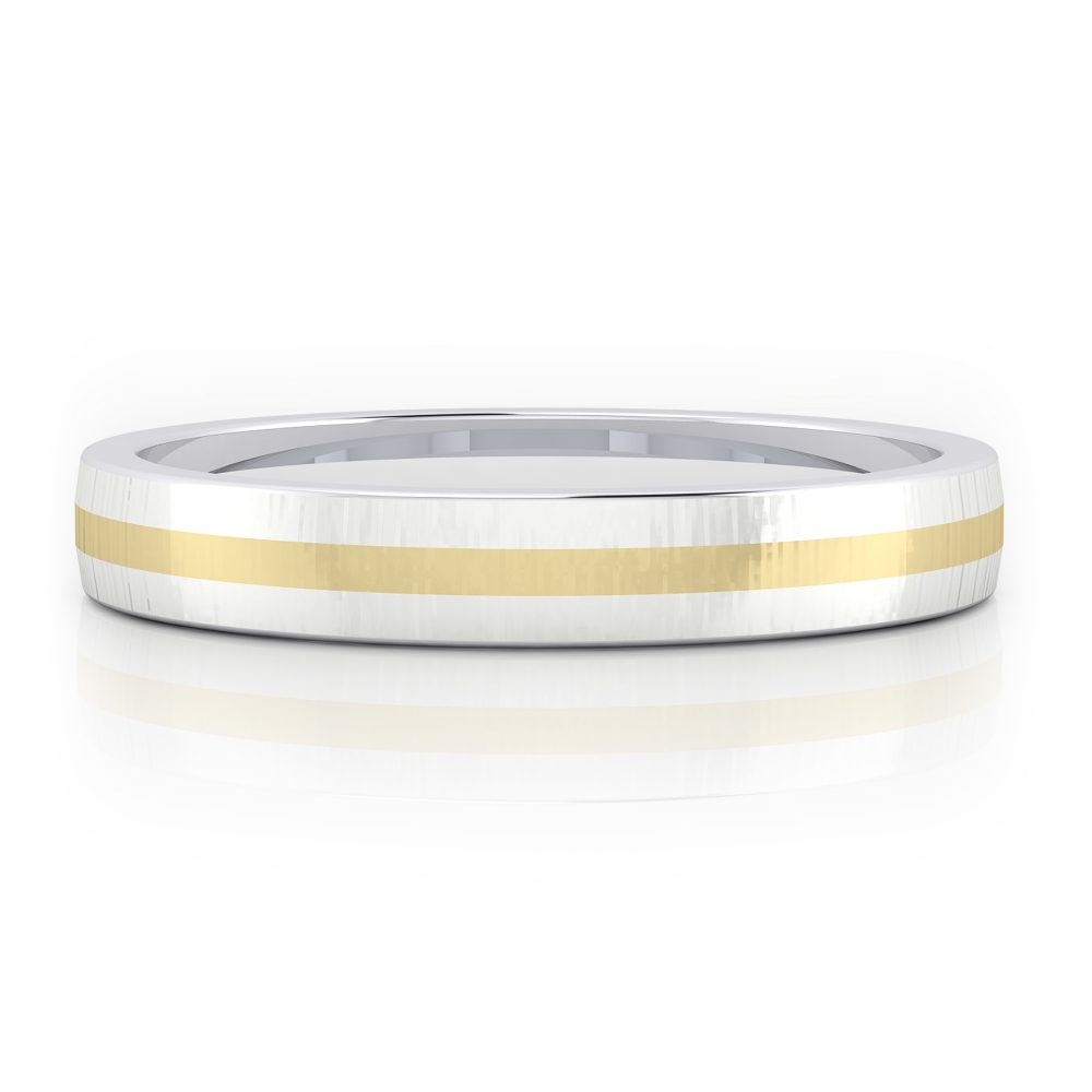 18k White gold men wedding band