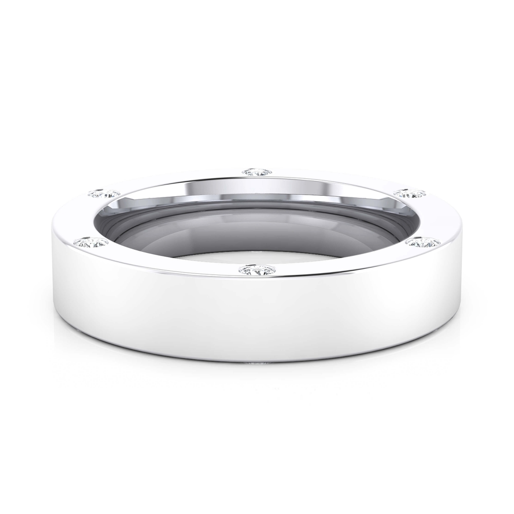 Wedding Ring 18k white gold with 6 brilliant cut diamond