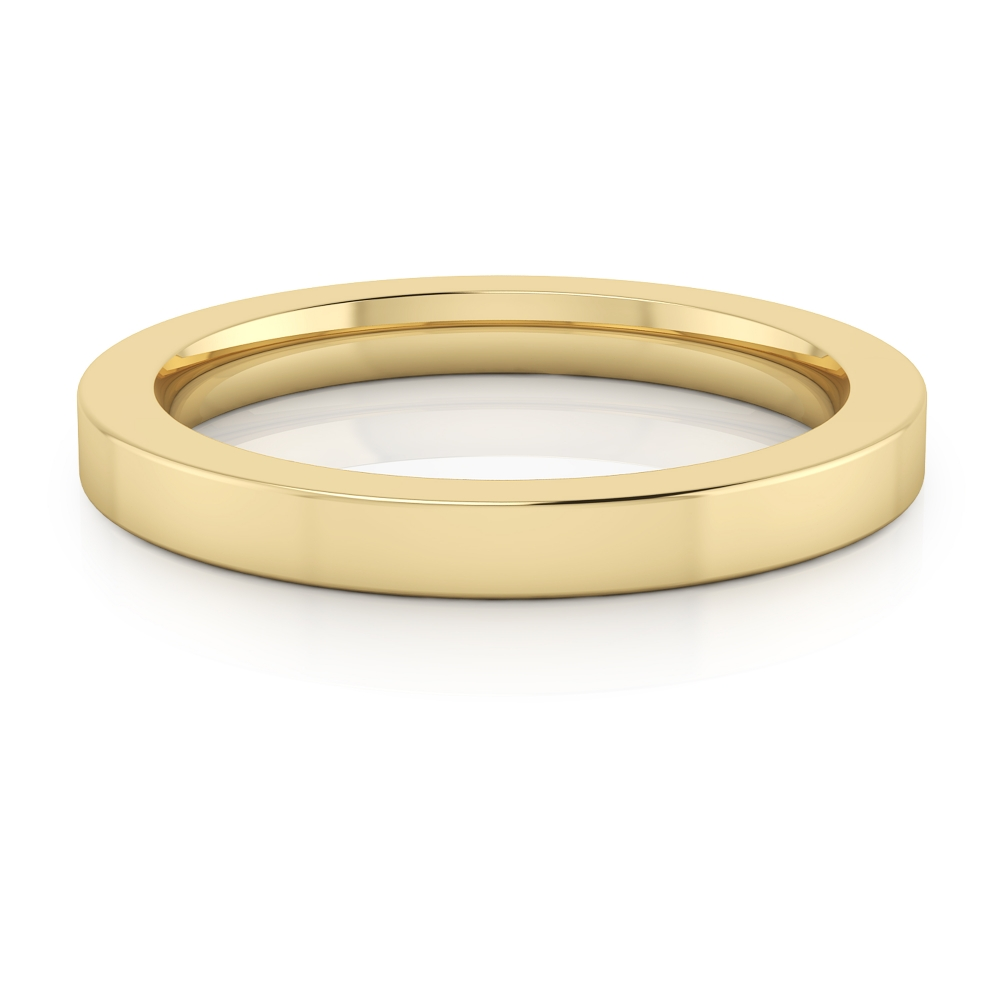 Wedding ring, made in 18 kt yellow gold, with glossy finish