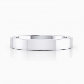 White gold brilliant finish Wedding Ring for men