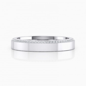 White gold wedding ring with 68 diamonds