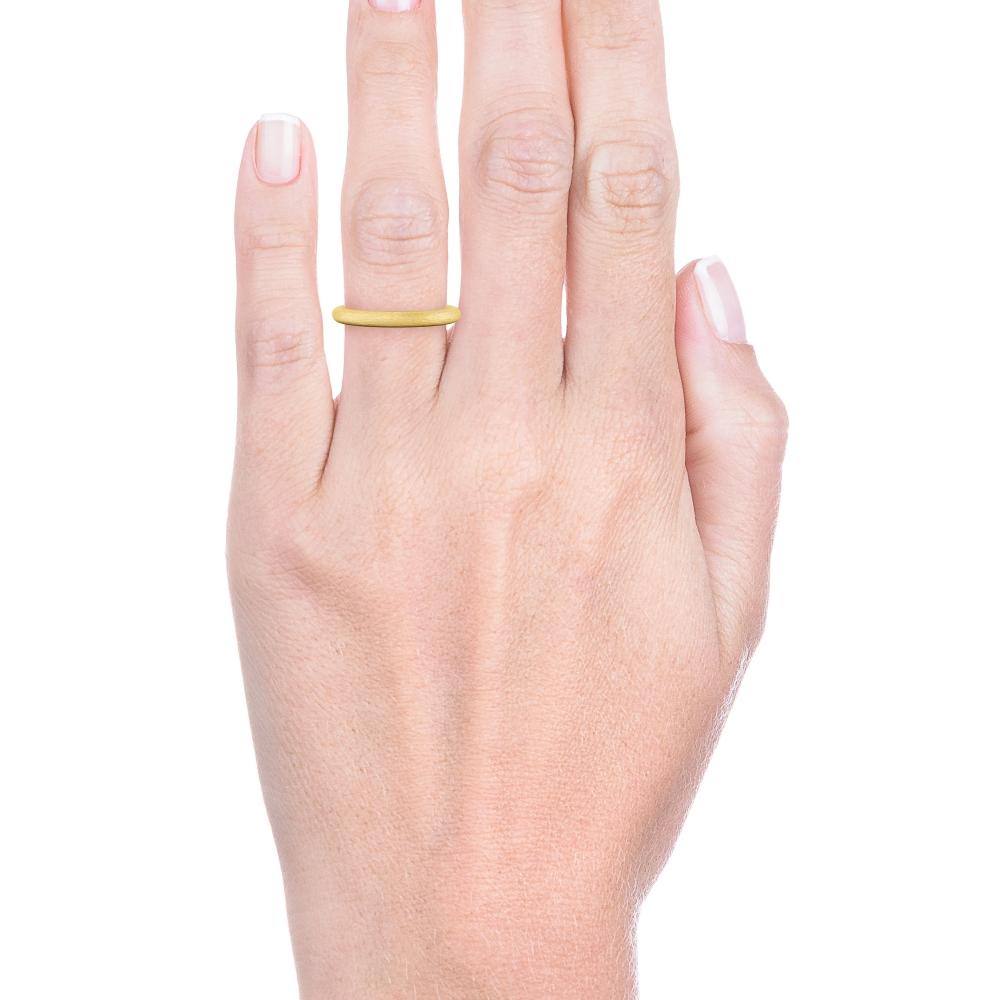 Alianza de boda redondeada en oro amarillo, para ella.