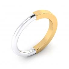 Alianza de matrimonio de oro blanco y amarillo
