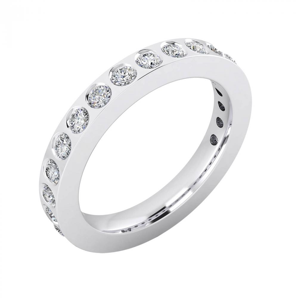 foto de perfil de Alianza de boda de oro blanco y 14 diamantes