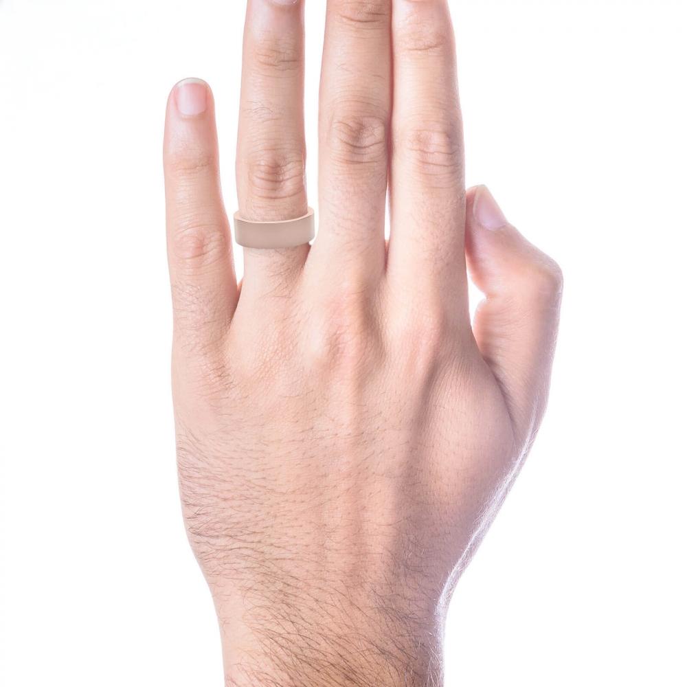 Alianza de boda para hombre de oro rosa de 18k