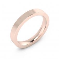 Alianza de boda de oro rosa brillante para hombre
