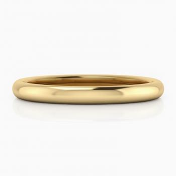 alianza de boda de oro amarillo de 18 kilates