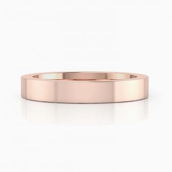 alianza de boda de oro rosa para hombre