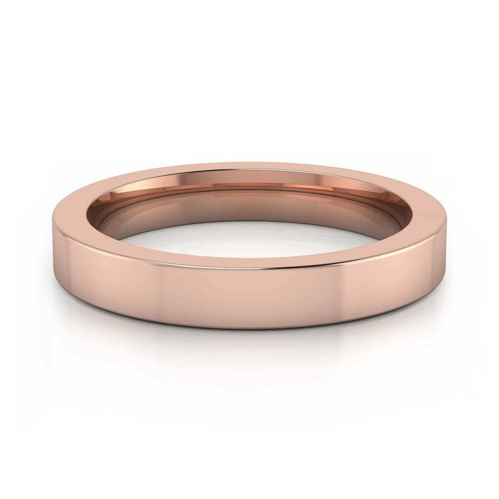 alianza de matrimonio de oro rosa para hombre