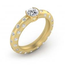 Anillos de compromiso de oro amarillo de 18k con 56 diamantes