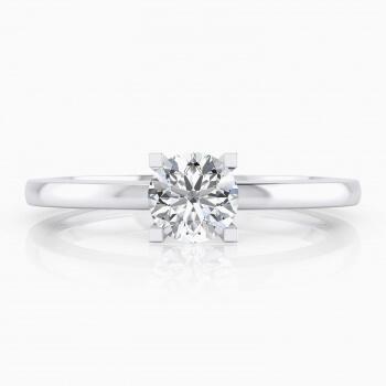 Anillos de compromiso en oro blanco 18k con 1 diamante central. ( -20% ! )