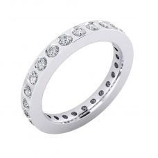 Anillos de compromiso de oro blanco de 18k con 22 diamantes