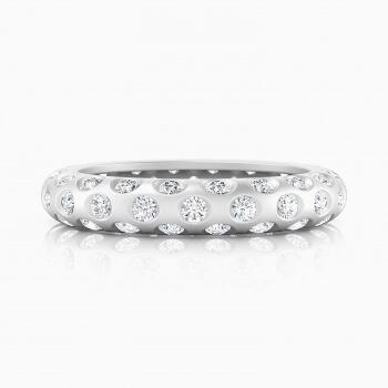 Anillos de compromiso de oro blanco de 18k con 60 diamantes