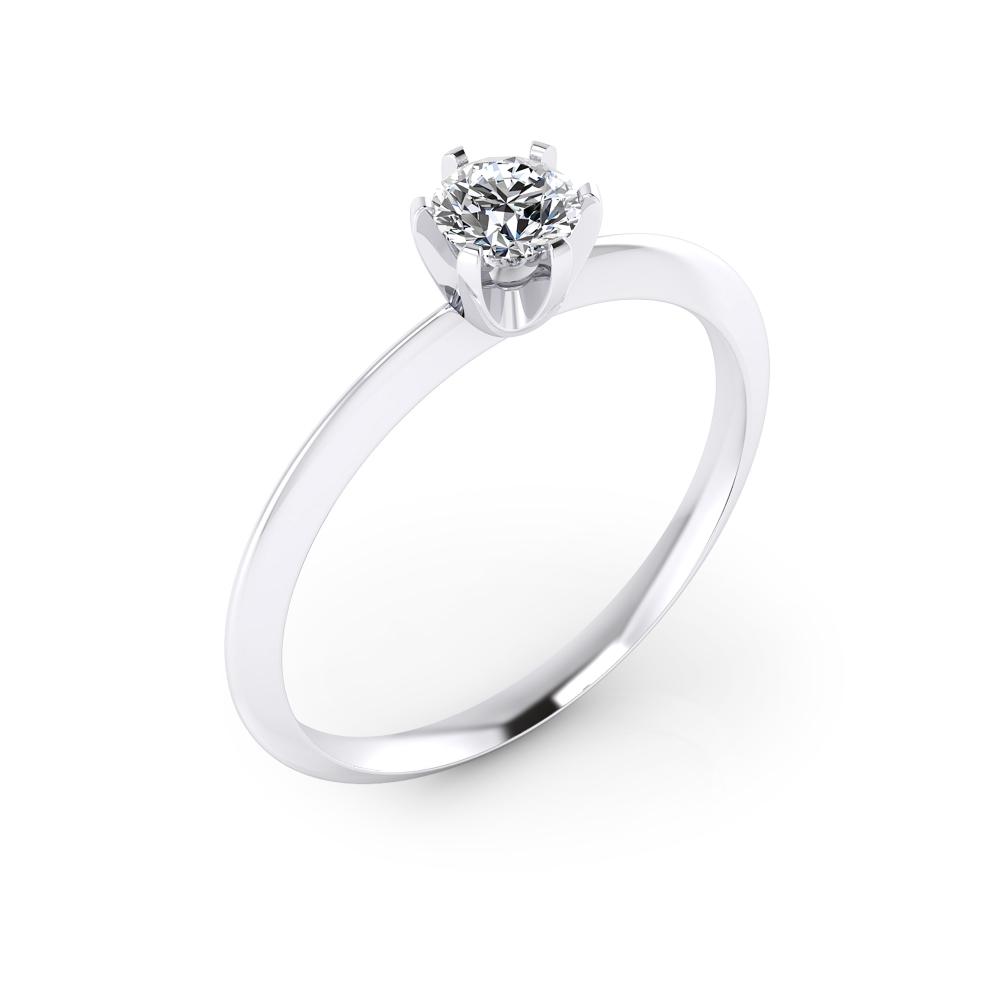 Solitario de compromiso en oro blanco con 1 diamante talla brillante.