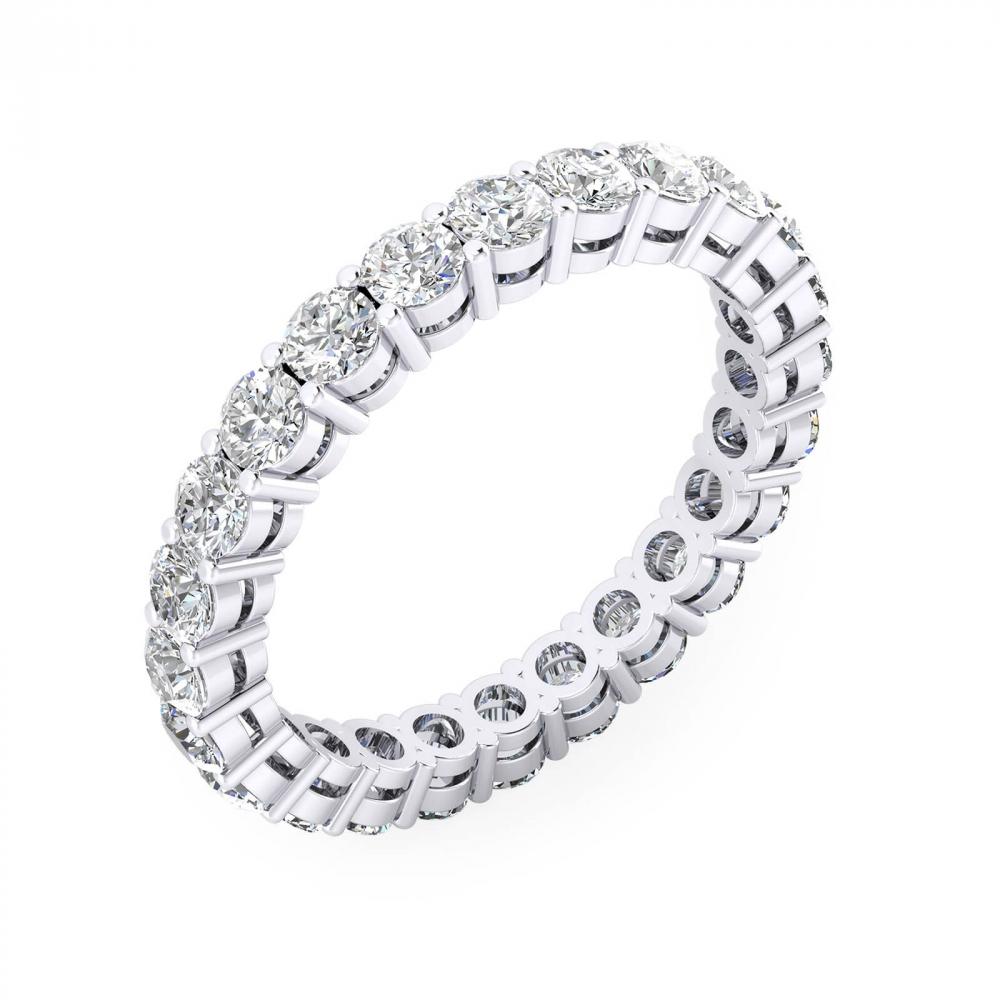 Anillos de compromiso de oro blanco de 18k - Elige el tamaño de los diamantes