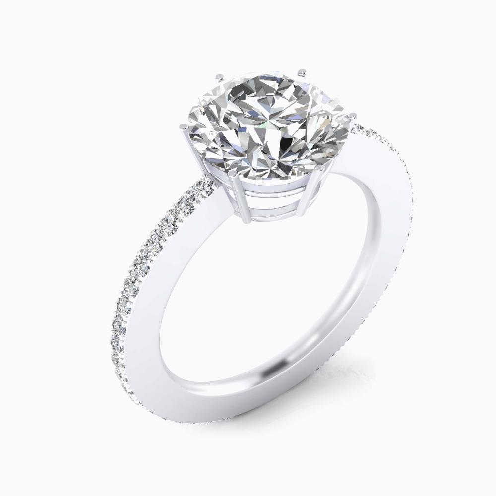 foto de perfil de Anillo de compromiso de oro blanco y diamante talla brillante