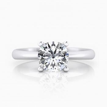 Solitario de compromiso en oro blanco con diamante talla brillante.( -20%! )