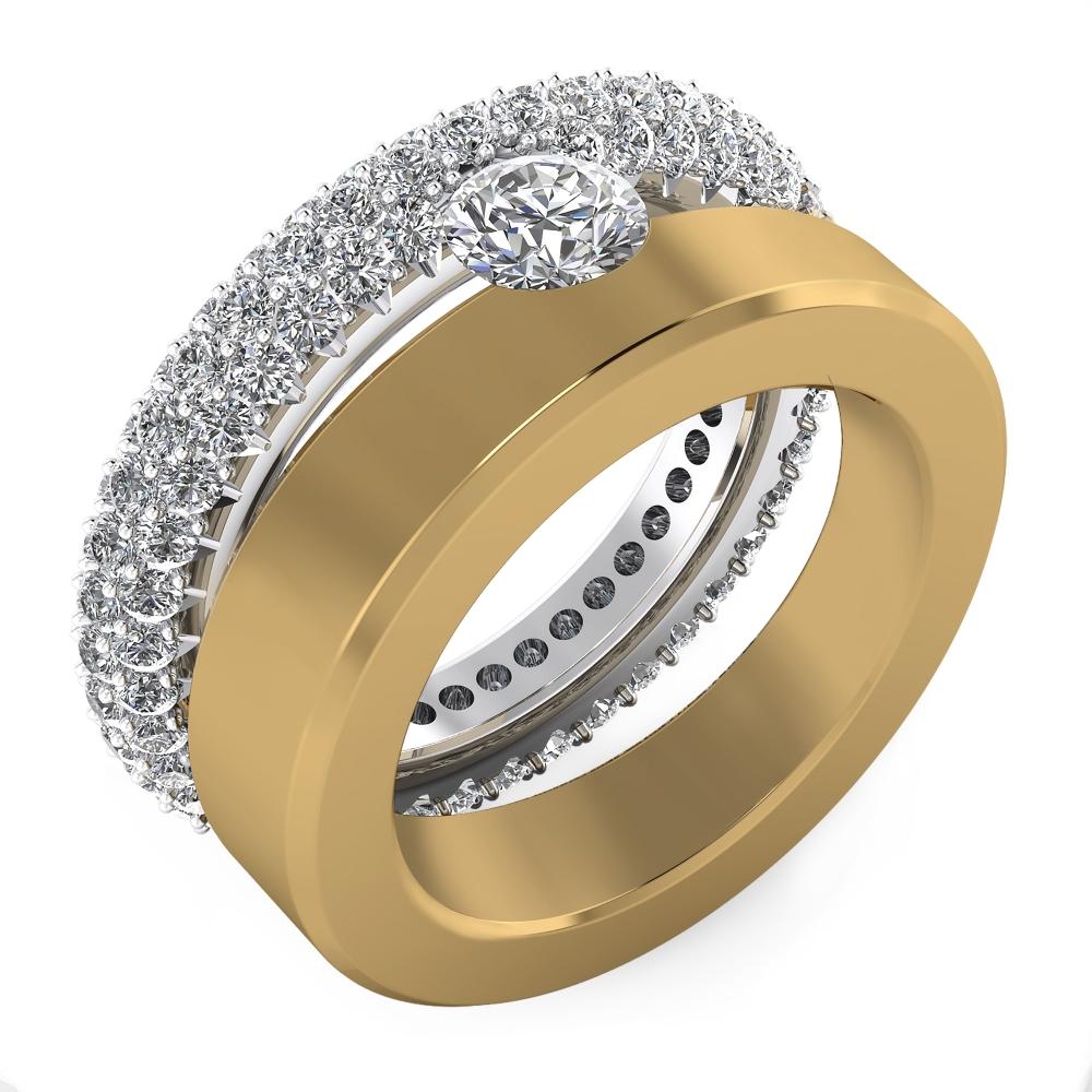 Foto de perfil de Anillo de 121 diamantes oro amarillo y blanco