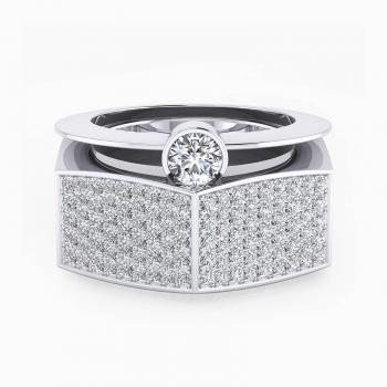 Anillo de oro blanco con 190 diamantes