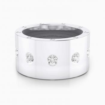 Anillo de diamantes oro blanco con 25 diamantes