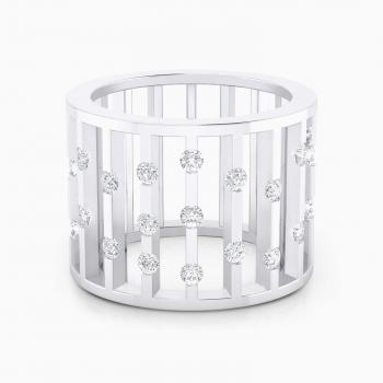 Anillo de diamantes oro blanco y 27 diamantes