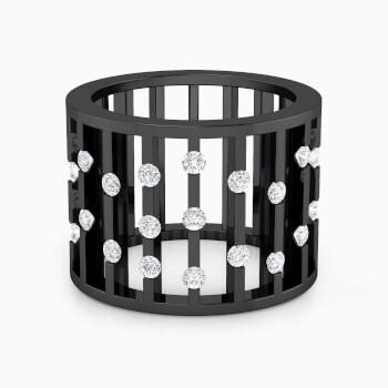 Anillo de diamantes y rodio negro con 27 diamantes
