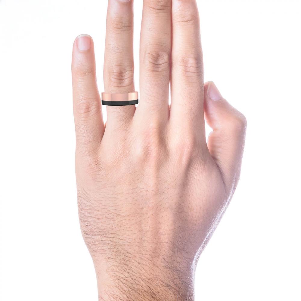 Comprar anillo de hombre de oro blanco y rojo de 18k clem ncia peris - Anillo de casado mano ...