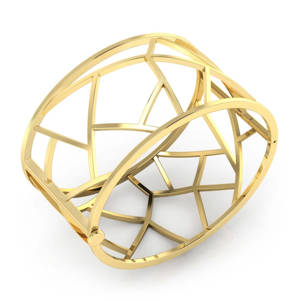 Brazalete moderno de oro amarillo de 18k