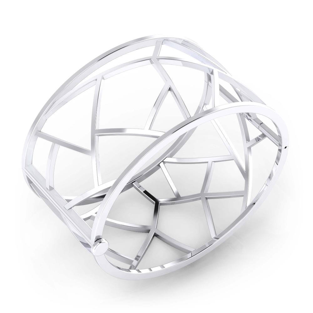 Brazalete moderno en plata de ley