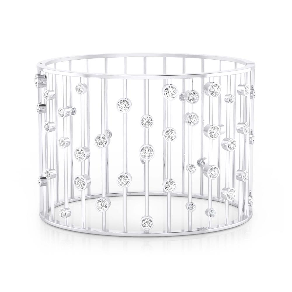 Brazalete de oro blanco de 18k con 45 diamantes