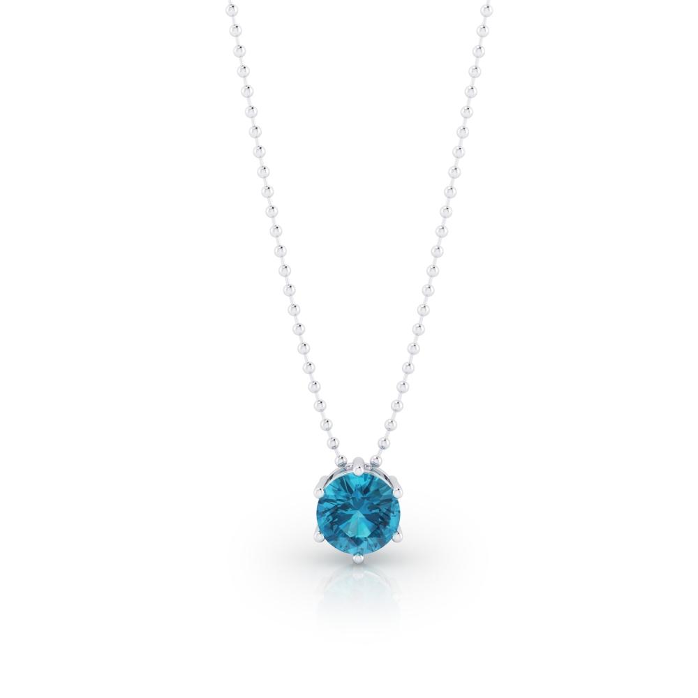 Collar de plata con topacio azul