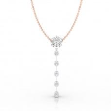 Collar de oro blanco de 18k con diamantes