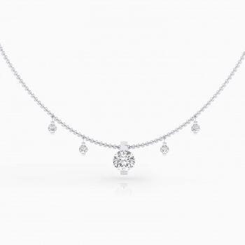 Collares de oro blanco de 18k con diamantes