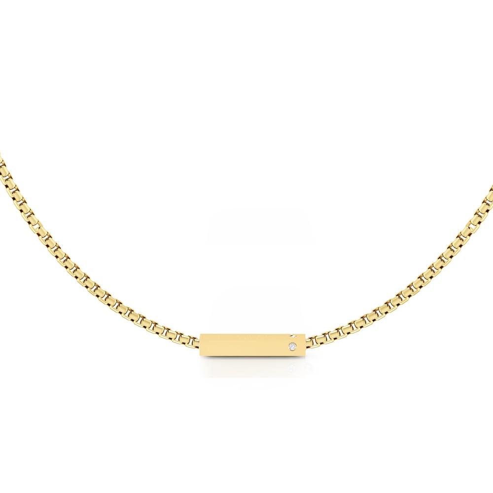 Collares de oro amarillo de 18k con 2 diamantes