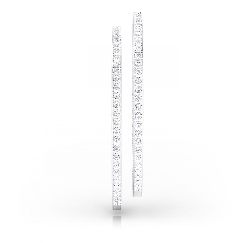Criollas de diamantes oro blanco de 18k