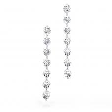 Pendientes de oro blanco de 18k con 14 diamantes